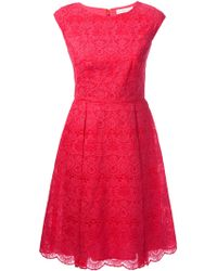 Tory Burch Floral Lace Aline Dress - Lyst