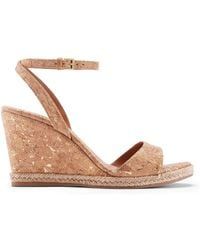 Tory Burch - Marion Quilted Espadrille Wedge Sandal - Lyst