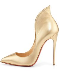 Christian Louboutin Mea Culpa Metallic Red Sole Pump - Lyst