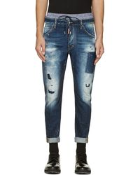 DSquared2 Blue Distressed Classic Kenny Twist Jeans - Lyst