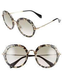 Miu Miu 54Mm Retro Sunglasses - Lyst