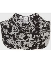 Carven Graffiti Print Collar black - Lyst