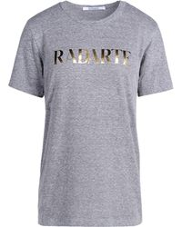 Rodarte Short Sleeve T-Shirt gray - Lyst