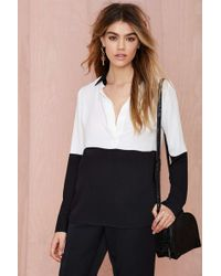 Nasty Gal Off The Block Color Block Blouse - Lyst