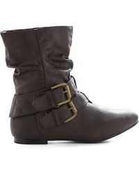 Shoe Magnate Inc Spruce Up Your Style Boot In Espresso - Lyst