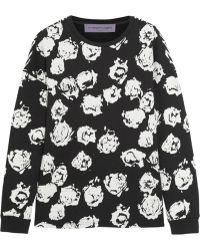 Emanuel Ungaro Flocked Cotton Jersey Sweatshirt - Lyst