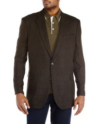 Tommy Hilfiger Green Plaid Two-button Sport Coat - Lyst