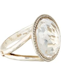 Ippolita - Silver Clear Quartz And Diamond Stella Lollipop Ring - Lyst
