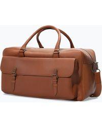 Zara Vintage Leather Weekender Bag - Lyst