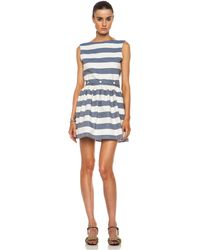 Maison Kitsuné Bali Stripe Cotton Dress - Lyst