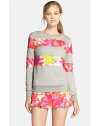 Trina Turk - Recreation Orchid Print Sweatshirt - Lyst