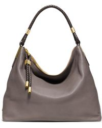 Michael Kors Skorpios Top-Zip Leather Shoulder Bag gray - Lyst