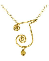 Rafia - Initial K Necklace - Lyst