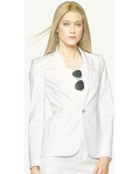 Ralph Lauren Black Label Stretch Cotton Benita Jacket - Lyst