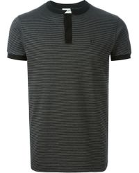 Saint Laurent Band Collar Polo Shirt - Lyst
