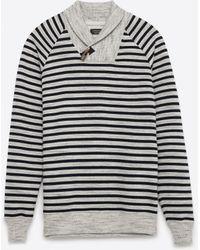 Zara | Striped Sweatshirt | Lyst