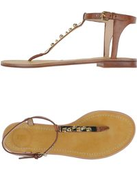 French Connection Thong Sandal brown - Lyst
