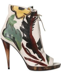 Burberry Prorsum | 115mm Hand Painted Deer Leather Boots | Lyst