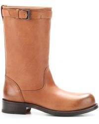 Bottega Veneta Leather Calf Boots - Lyst