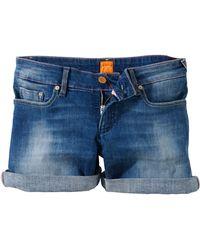 BOSS Orange - Cottonblend Denim Shorts Lillie - Lyst
