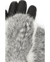 Imoni | Short Lambs Leather Gloves With Fur Overlay | Lyst