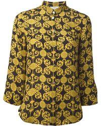 Versace Signature Print Shirt - Lyst