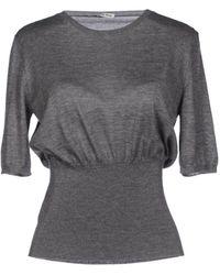 Miu Miu Gray Sweater - Lyst