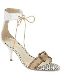 Loeffler Randall 'Nina' Sandal beige - Lyst