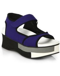 Marni Colorblocked Platform Sandals - Lyst