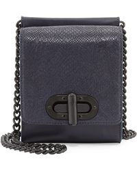 L.A.M.B. Etsie Snake-Embossed Shoulder Bag - Lyst