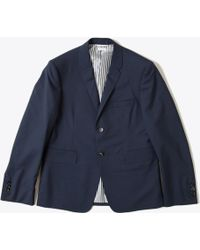 Thom Browne Classic Suit In Navy S120S Wool - Lyst
