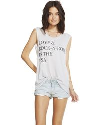 Chaser Love And Rock Tank - Lyst