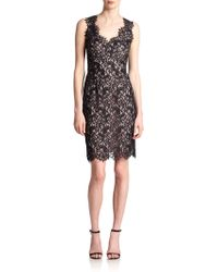 Shoshanna Pamela Lace Cocktail Dress - Lyst