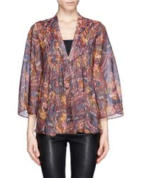 Elizabeth And James Multicolour Print Mesh Shirt - Lyst