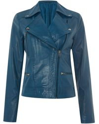 Mary Portas B Leather Jacket - Lyst
