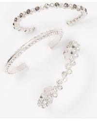 Ann Taylor Smoky Gem And Crystal Bracelet Set - Lyst
