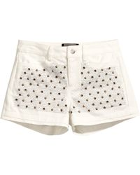 H&M Beaded Shorts - Lyst