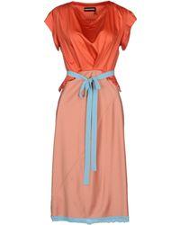 Sonia Rykiel Knee-Length Dress orange - Lyst
