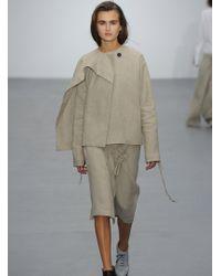 Eudon Choi - Naftel Skirt In Natural Irish Linen - Lyst