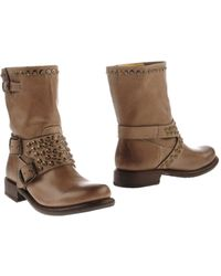 Frye Brown Ankle Boots - Lyst