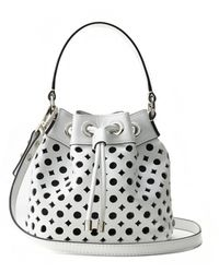 Milly Perforated Leather Small Drawstring - Lyst