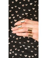 Luv Aj - Tall Plain Ring Set - Shiny Rose Gold - Lyst