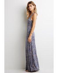Love 21 Tribal Print Maxi Dress - Lyst
