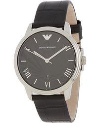 Emporio Armani Black Watch - Lyst