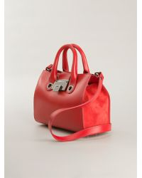Jimmy Choo Riley Small Leather Tote - Lyst