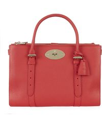 Mulberry Bayswater Classic Grain Double Zip Tote - Lyst