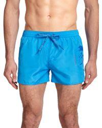 Diesel Coralrif Mohawk-Print Swim Trunks blue - Lyst