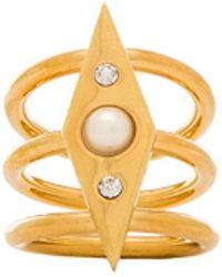 Rebecca Minkoff Pearl Crystal Ring - Lyst