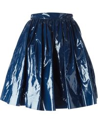 MSGM Pleated A-Line Skirt - Lyst