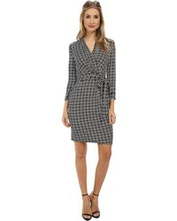 Adrianna Papell Printed Wrap Dress - Lyst